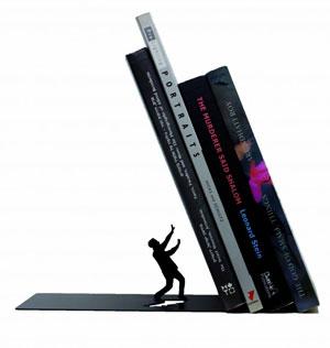 Boekensteun Falling Bookend
