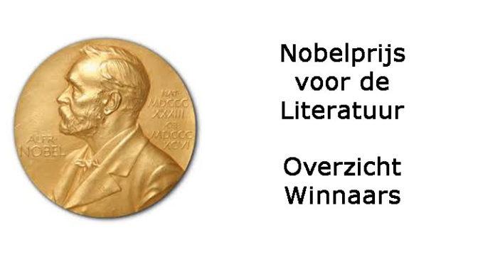 Nobelprijs voor de Literatuur Winnaars Schrijvers Schrijfsters