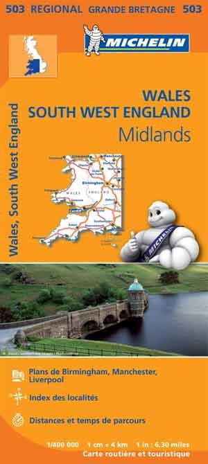 Michelin Wegenkaart Wales 503