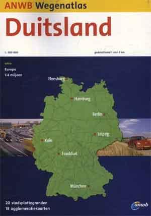ANWB Wegenatlas Duitsland Wegenkaart