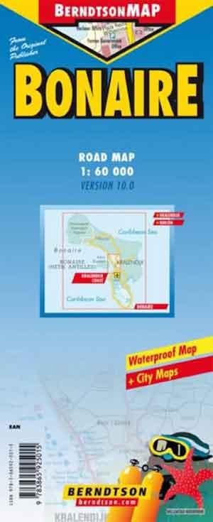 Wegenkaart Bonaire Landkaart