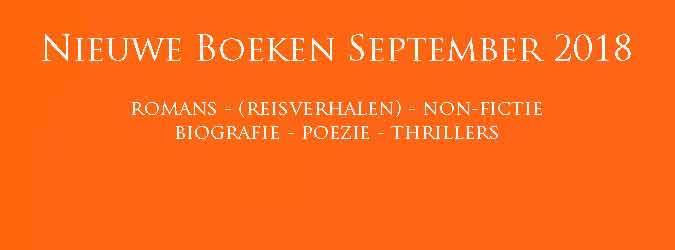 Nieuwe Boeken September 2018